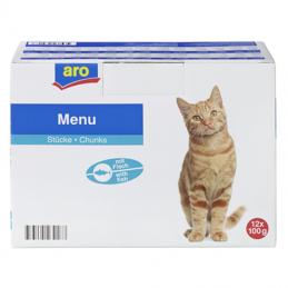 aro Pouch Katze mit Fisch...