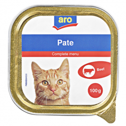 aro Pate, Menü für Katzen...