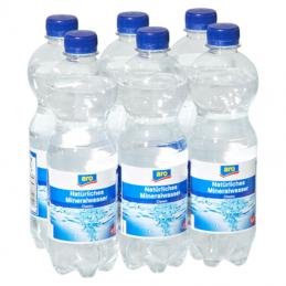 aro Natürliches Mineralwasser Classic 6 x 0,5 l Flaschen