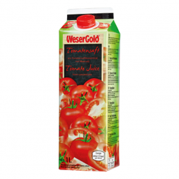 Wesergold Tomatensaft - 1,00 l Packung